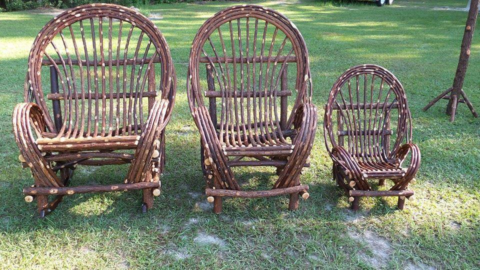 Willow Chairs Or Rockers 3 Sizes. Large (Oversized ) Regular Childs Email  Or Call For Details